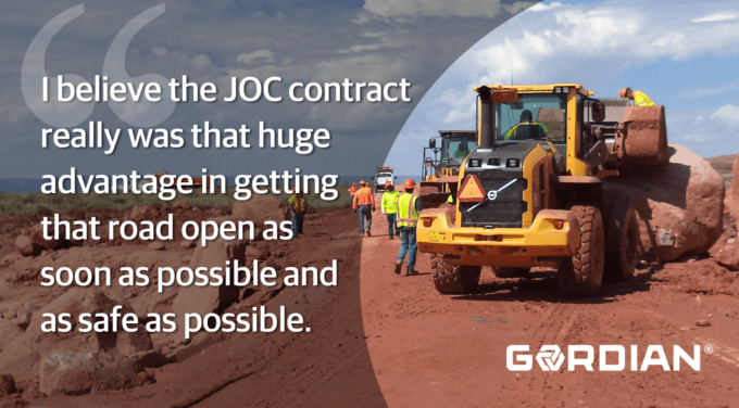 ADOT Repairs Badly Damaged Road in 6 Weeks with JOC